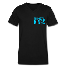Load image into Gallery viewer, Men's  Purposeful Kings V-Neck - black