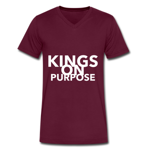 Kings On Purpose Men's V-Neck - maroon