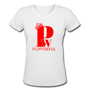 "Red & Black ""SisterWives"" V-Neck - white"