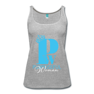 Purposeful Woman Tank Top - heather gray