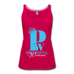 Purposeful Woman Tank Top - dark pink