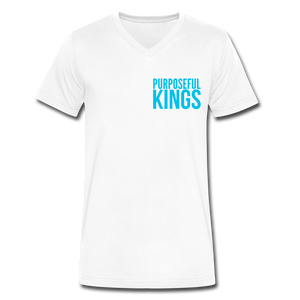 Men's  Purposeful Kings V-Neck - white