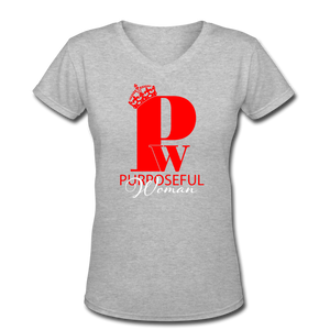 "Red & Black ""SisterWives"" V-Neck - gray"
