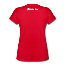 Load image into Gallery viewer, Women's V-Neck T-Shirt - red