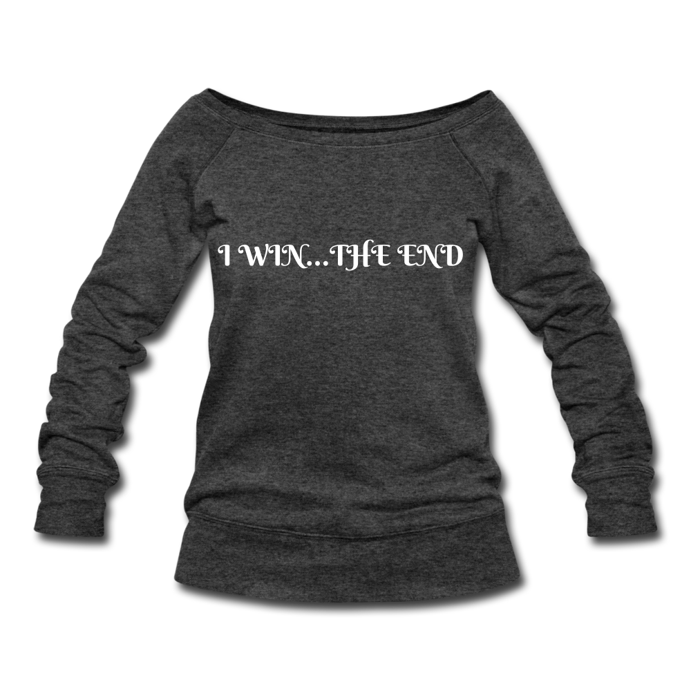 Women's Wideneck Sweatshirt - heather black