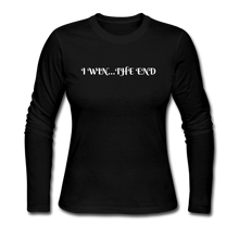Load image into Gallery viewer, Women's Long Sleeve Jersey T-Shirt - black