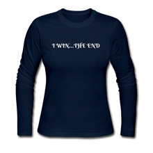Load image into Gallery viewer, Women's Long Sleeve Jersey T-Shirt - navy