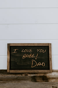 Keepsake Sign (16-25 letters)