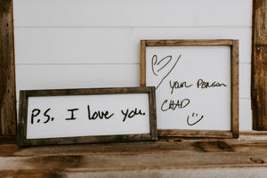 Keepsake Sign (0-15 letters)