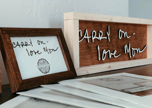 Custom Mini Sign Display $89.95 (plus free gift)