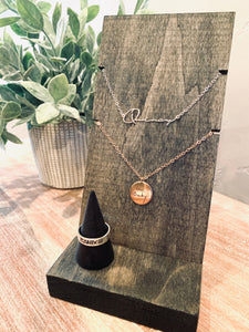 Handwritten Jewelry Display $89.95 (plus free gift)