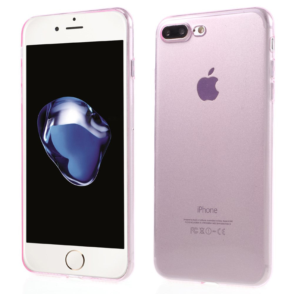 iphone 8 plus 7 plus slim glossy tpu cover pink mobilcovers dk. Black Bedroom Furniture Sets. Home Design Ideas