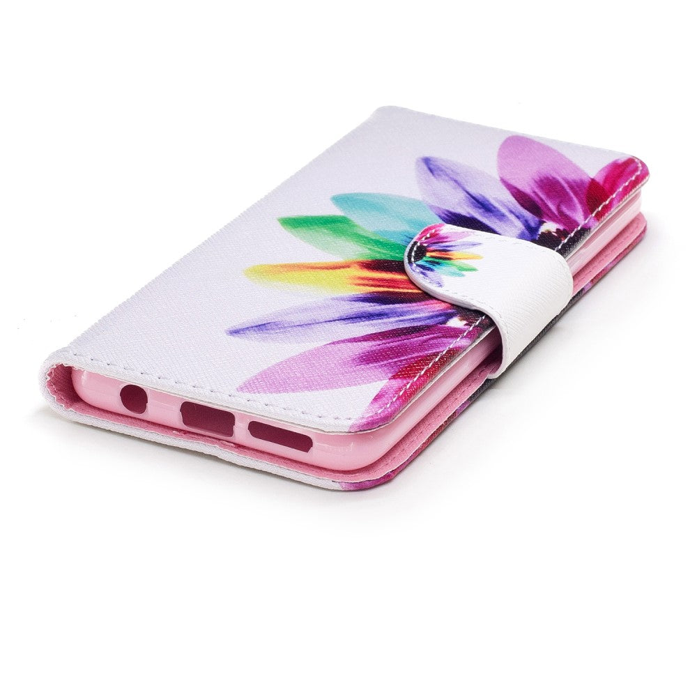 2db75cf1320 Samsung Galaxy S9 Cover m. Pung Farverige Blomsterblade | MOBILCOVERS.DK