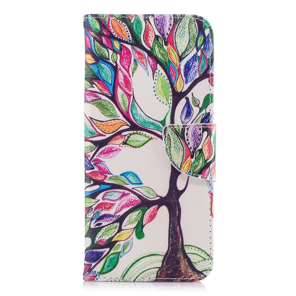 baaa74ced7c Samsung Galaxy S9+ (S9 Plus) Læder Cover m. Pung Colorized Tree ...