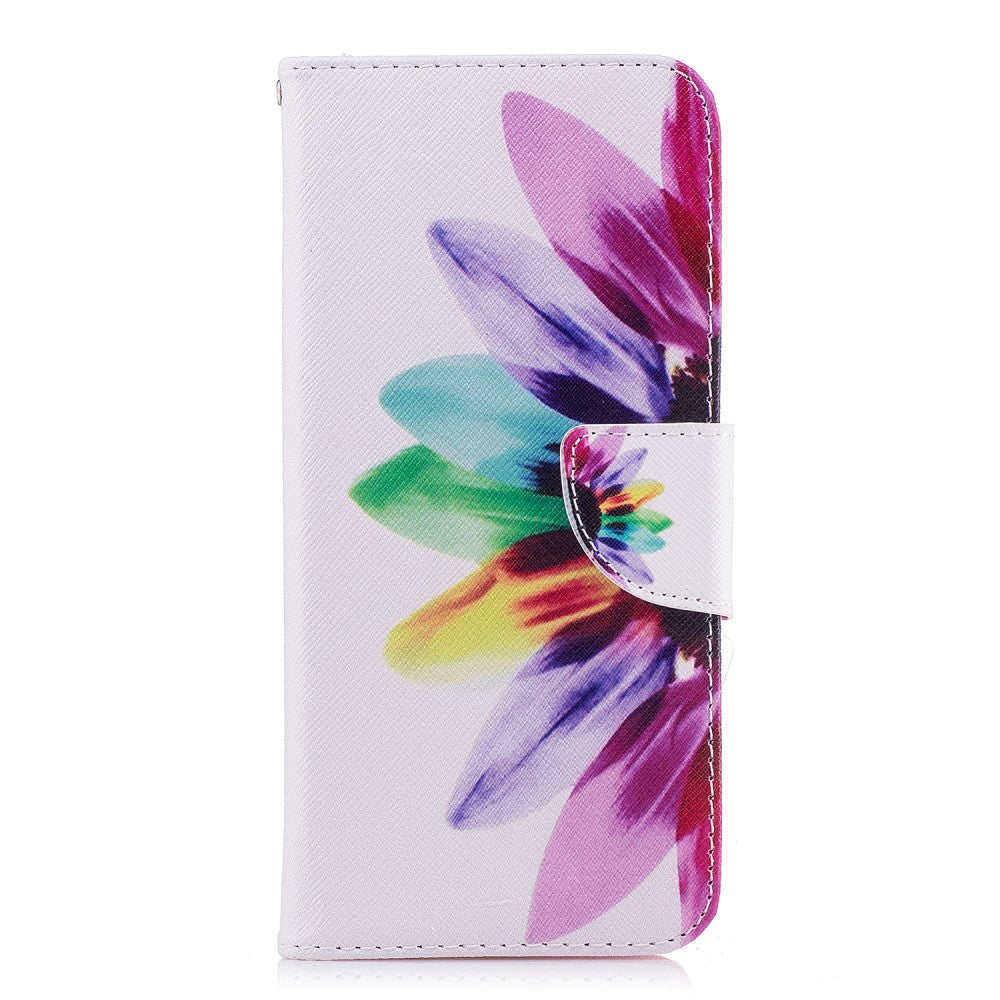 11428c80ca3 Samsung Galaxy S9+ (S9 Plus) Læder Cover m. Pung Colorful Sunflower ...