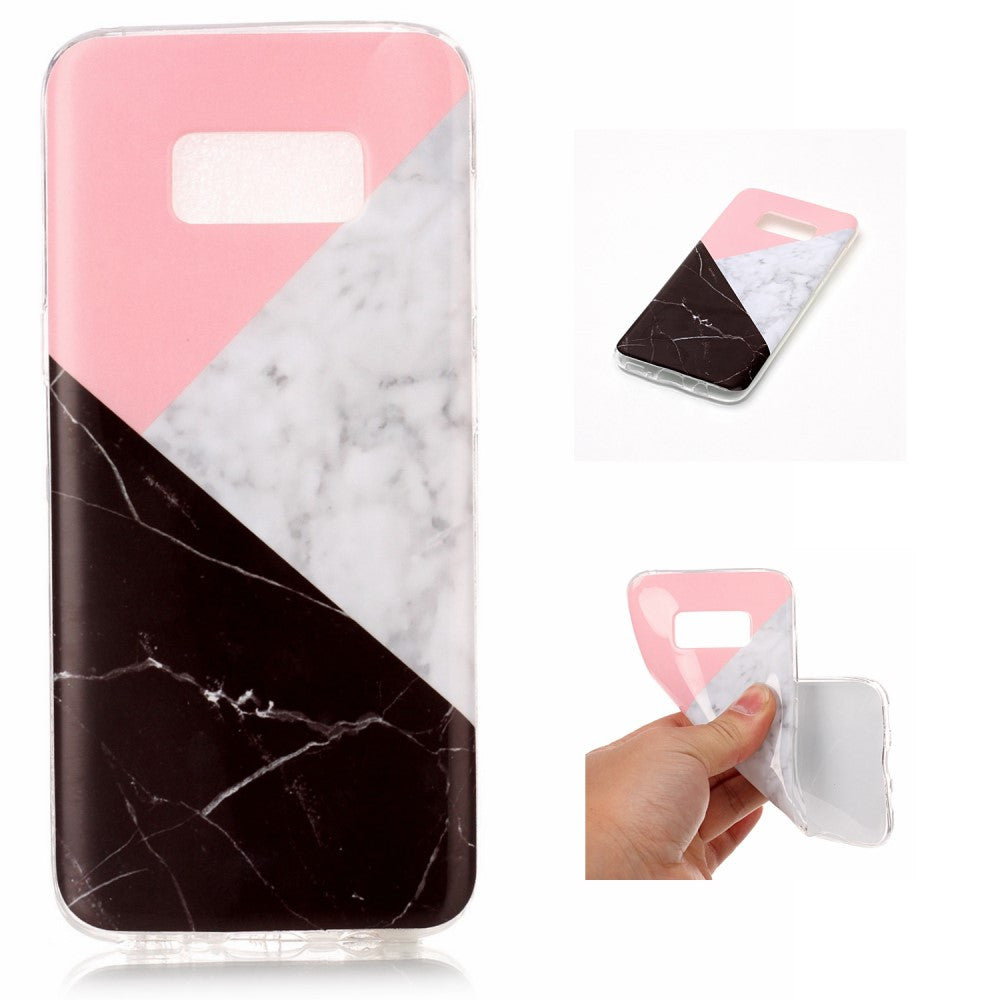 samsung galaxy s8 pink marmor tpu cover style m mobilcovers dk. Black Bedroom Furniture Sets. Home Design Ideas