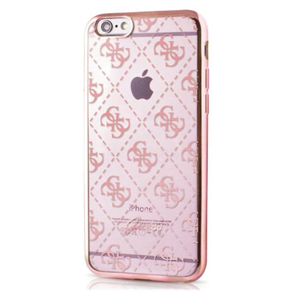 promo code 29953 73b65 Guess iPhone 6/6s Signature Heard. Gennemsigtig TPU Cover Rose Gold