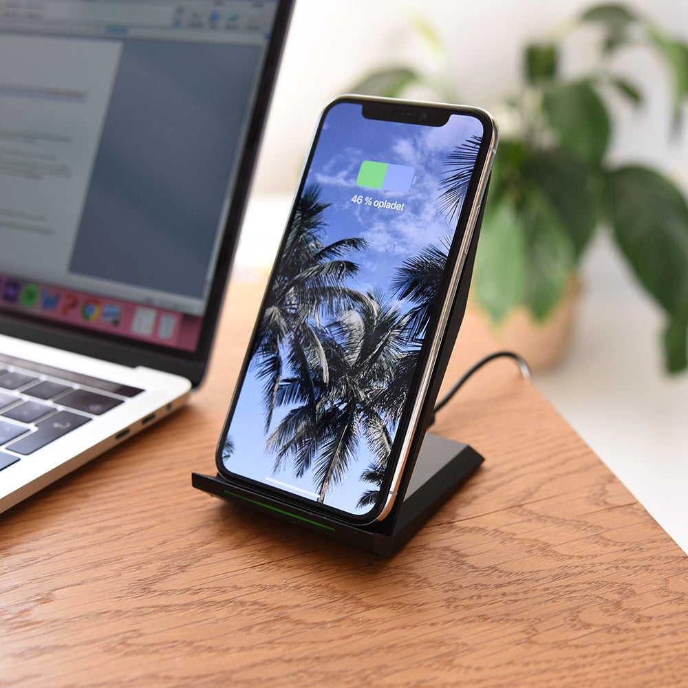 cc515cf52eb OTIUM Wireless Charger - Trådløs Oplader - Sort | MOBILCOVERS.DK
