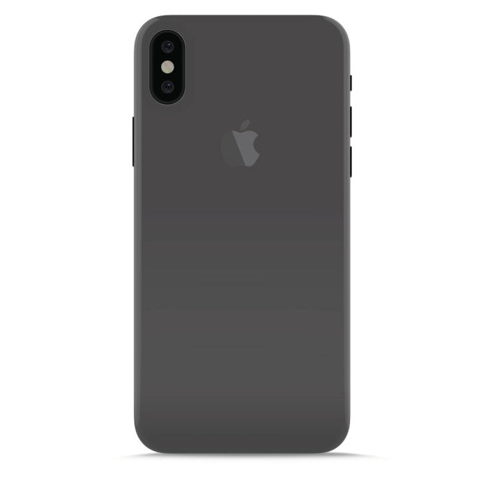 buy popular 20f91 aa944 iPhone Xs / X Puro Ultra Slim 0.3 mm. Cover Case Glossy Gennemsigtig