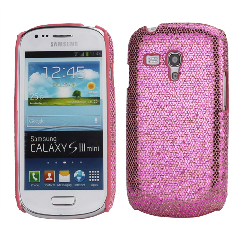 Samsung Galaxy S3 Mini Glitter Cover Pink | MOBILCOVERS.DK