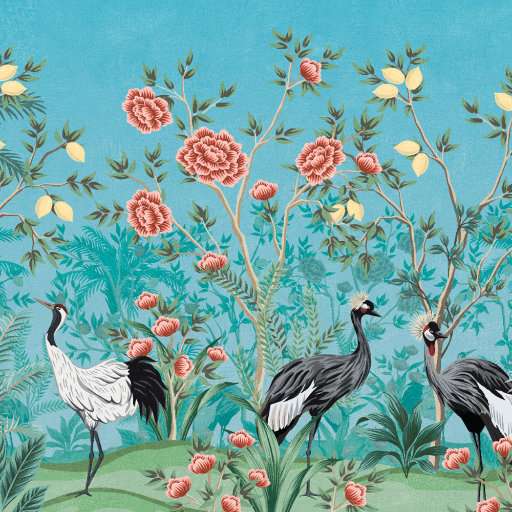 Bird of Paradise Mural Wallpaper by Back to the Wall