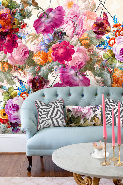 Bloom Boom Floral Wall Mural by Back to the Wall