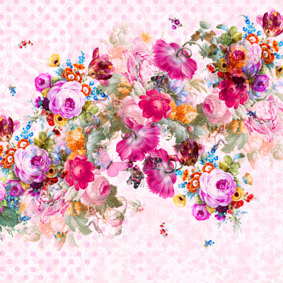 Bloom Boom Dotty / Large Floral Wall Mural by Back to the Wall