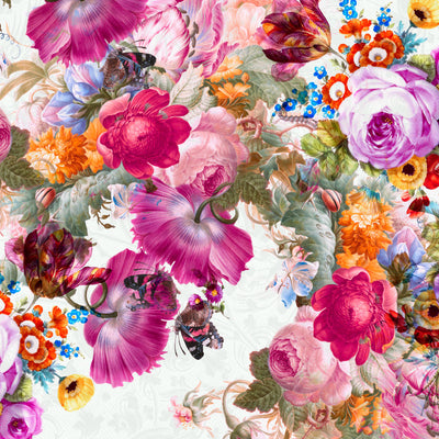 Bloom Boom Kohler | Large Floral Wall Mural by Back to the Wall