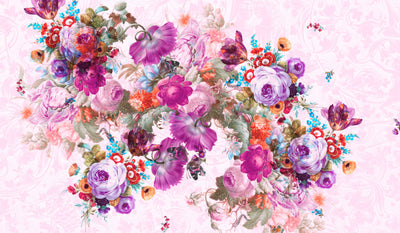 Bloom Boom Mauve Floral Wall Mural by Back to the Wall