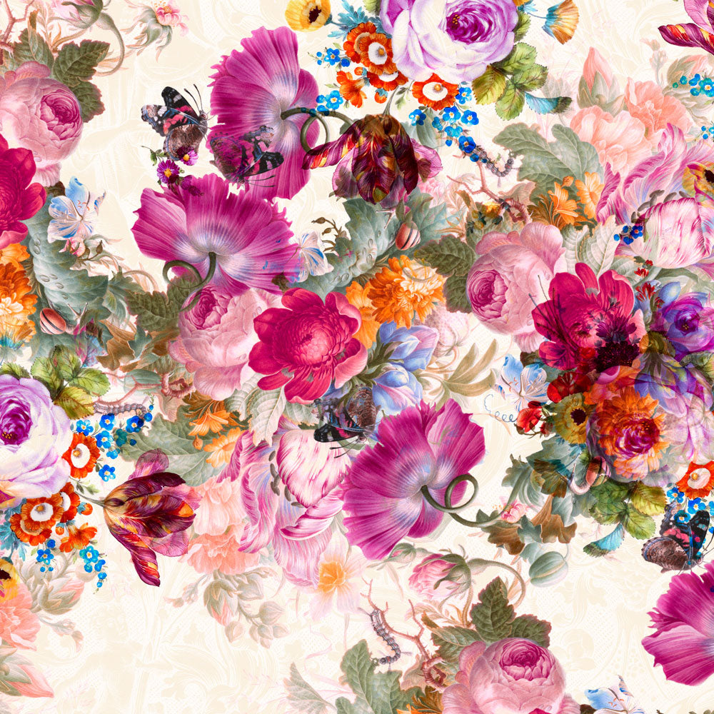 Bloom Boom No Lines | Large Floral Wall Mural by Back to the Wall