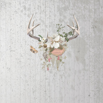 Champagne & Antlers Wall Mural by Back to the Wall