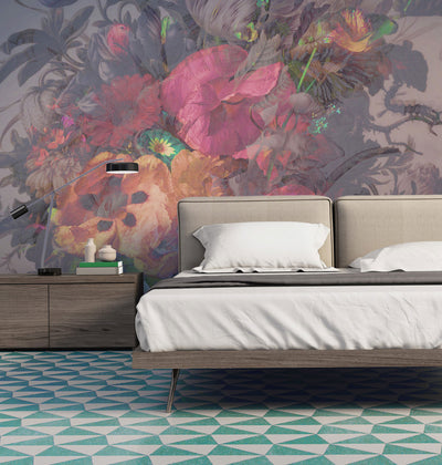 Dutch Floral Wall Mural & Wallpaper by Back to the Wall