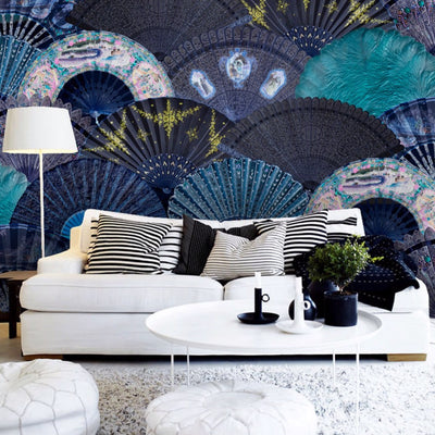 Fans Oriental Style Wall Mural by Back to the Wall