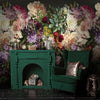 Fiori Floral Mural Wallpaper for Living Room behind Fireplace by MM Linen for Back to the Wall