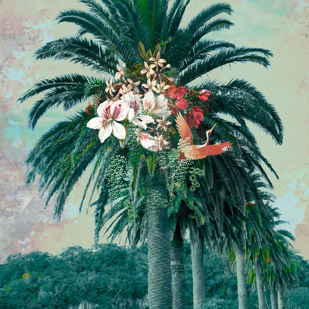 Floral Palm Oriental Wall Mural by Back to the Wall