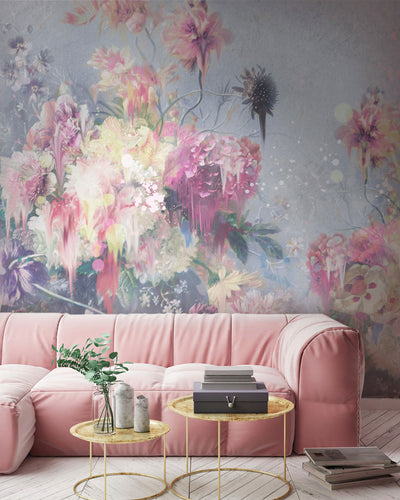 Floral Ink Wall Mural by Back to the Wall