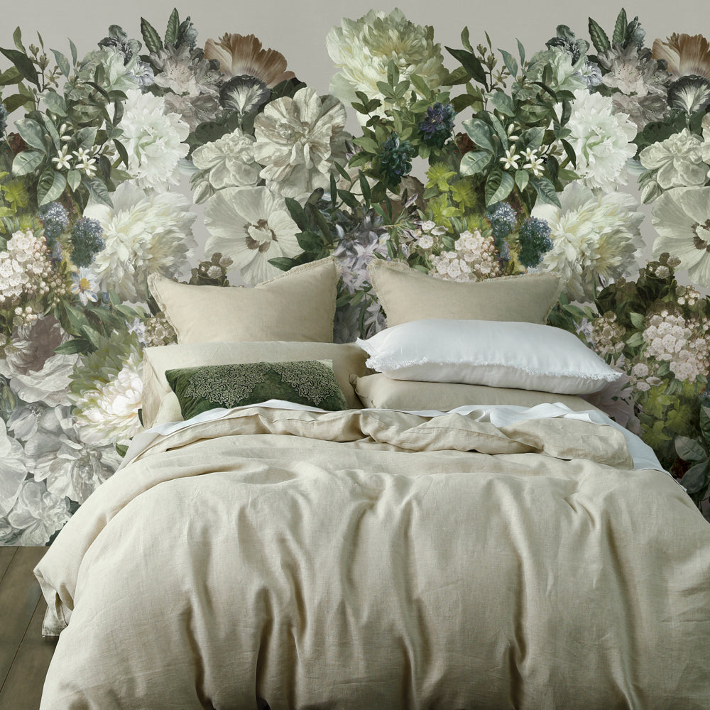 Florian Floral Mural Wallpaper for a bedroom by MM Linen for Back to the Wall