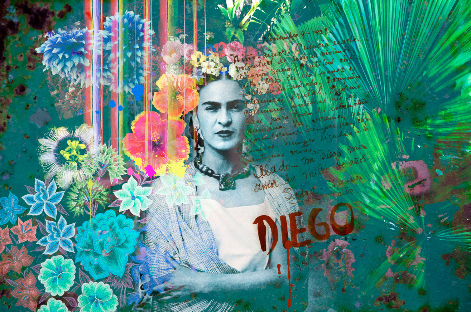 Frida Kahlo Inspired Wall Mural By Back To The Wall Back