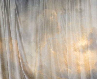 Heavenly Drapes Wall Mural by Back to the Wall