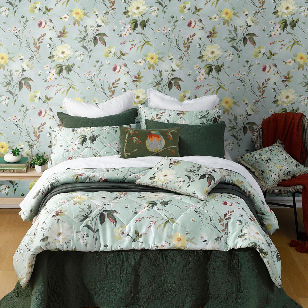 Marlie Floral Mural Wallpaper for a bedroom by MM Linen for Back to the Wall