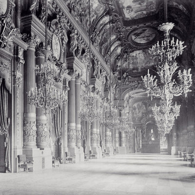 Opera Hall Chandellier Wall Mural by Back to the Wall