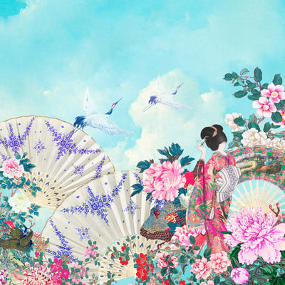 Oriental Paradise Wall Mural by Back to the Wall