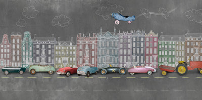 Pedal Car Kids Wall Mural by Back to the Wall