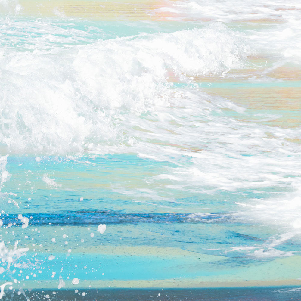 Sea Waves Beach Setting | Wall Mural by Back to the Wall