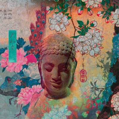 Serene Buddha 2 | Wall Mural by Back to the Wall