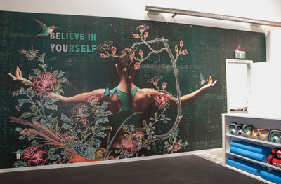 Wall Mural for Women's Gym