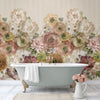 Arlette Mural Wallpaper for Bathroom by MM Linen for Back to the Wall