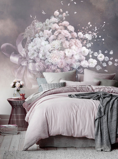 Blossom Wall Mural with Flowers from Back to the Wall