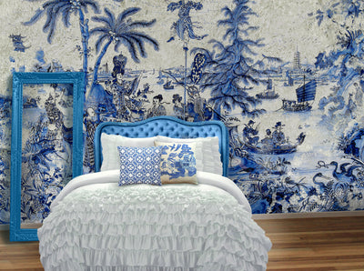 A Chinese or Oriental inspired design for a wall mural | Back to the Wall