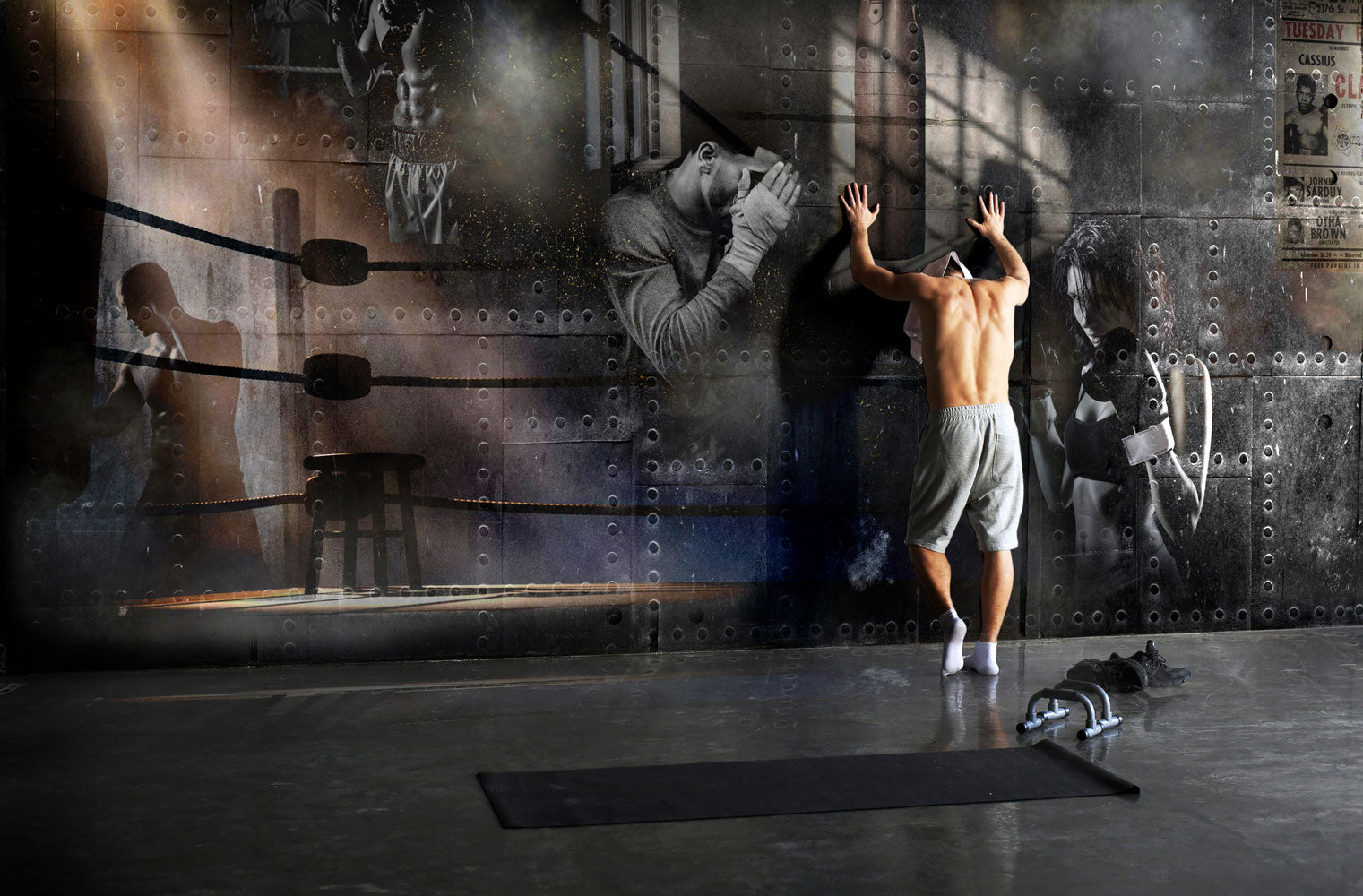 Concept Boxing Gym Custom Mural Wallpaper By Back To The Wall Back To The Wall